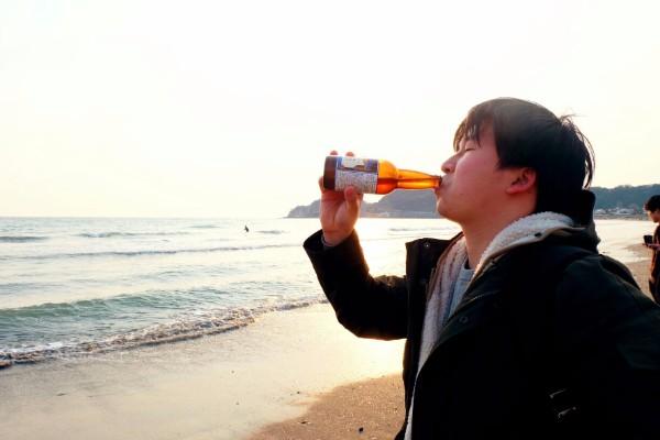 ビーチとビール