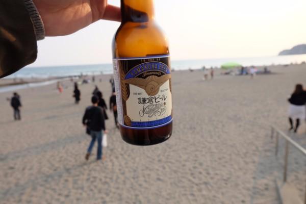 由比ガ浜とビール